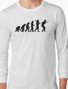 Evolution of Table Tennis or Ping Pong Mens  Long Sleeve T-Shirt