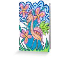 Abstract Heron Greeting Card