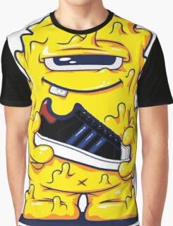 Yellow Monster shoes Art Design Monster Graphic T-Shirt