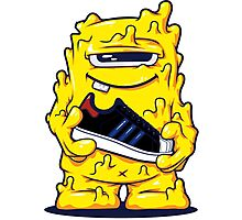 Yellow Monster shoes Art Design Monster Photographic Print