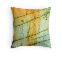 Labradorite Crystal Gemstone Macro Throw Pillow