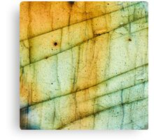 Labradorite Crystal Gemstone Macro Canvas Print