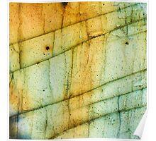 Labradorite Crystal Gemstone Macro Poster