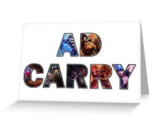 AD CARRY Greeting Card