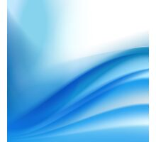 abstract light blue background Photographic Print