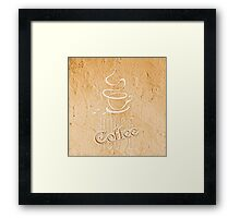 coffee house symbol  Framed Print