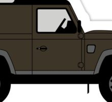 A Graphical Interpretation of the Defender 90 Hard Top XTech Sticker