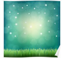 night fantasy sky Poster