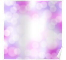 abstract pink bokeh background Poster