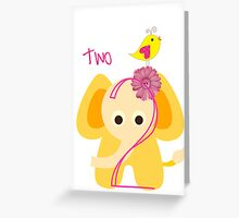 Two Year Old Elephant Greeting Card