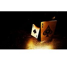Aces of Spades Photographic Print