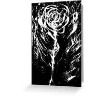 Black and White -  Raw Emotion in a Rose Greeting Card