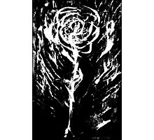 Black and White -  Raw Emotion in a Rose Photographic Print