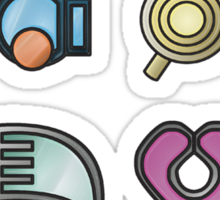 The Hoenn Gym Badges Sticker