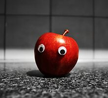 Googly-Eyed Apple by JustAnEffigy