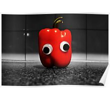 Googly-Eyed Capsicum Poster