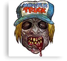 Monster Truck Zombie Art Design Monster Canvas Print