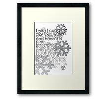 It's white, snow white... Framed Print
