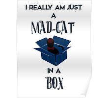 Just a mad cat in a box Poster
