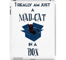 Just a mad cat in a box iPad Case/Skin
