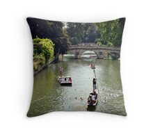 Cambridge Punting Throw Pillow