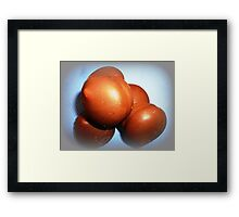 *Chocolate Biscuits with Marshmallow* Framed Print