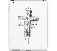 Religious Cross illustration iPad Case/Skin