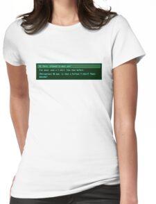 The Conversation Starter Womens Fitted T-Shirt