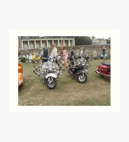 Isle of Wight scooter rally 2013 Art Print