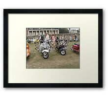 Isle of Wight scooter rally 2013 Framed Print