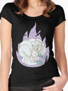 Ninetales - Fire Pokemon (Shiny Version) Women's Fitted Scoop T-Shirt
