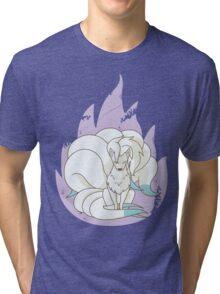 Ninetales - Fire Pokemon (Shiny Version) Tri-blend T-Shirt