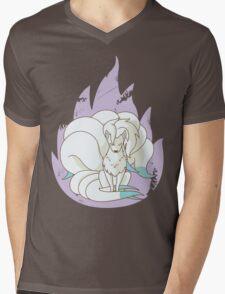 Ninetales - Fire Pokemon (Shiny Version) Mens V-Neck T-Shirt