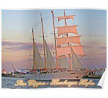 Star Clipper Hamburger Hafen Poster