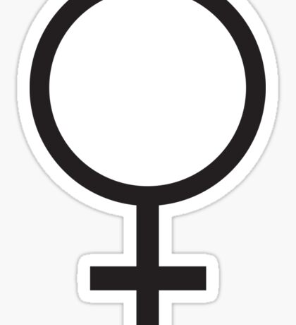 FEMALE, WOMEN, WOMAN, SHE, Venus symbol, FEMININE, Gender symbol, Sex, sex of an organism, Black  Sticker