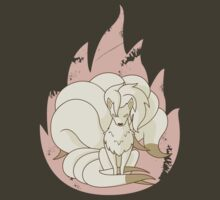 Ninetales - Fire Pokemon by cassdowns