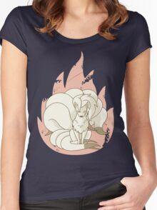 Ninetales - Fire Pokemon Women's Fitted Scoop T-Shirt