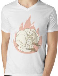 Ninetales - Fire Pokemon Mens V-Neck T-Shirt