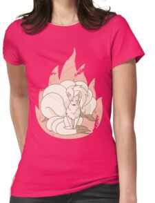 Ninetales - Fire Pokemon Womens Fitted T-Shirt