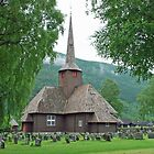 The church of Vinstra - Norway by Arie Koene