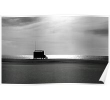 Beach hut. Poster