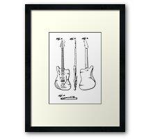 Guitar Patent Framed Print