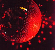 Red Disco Ball by Lynx Clark