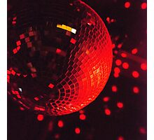 Red Disco Ball Photographic Print