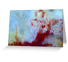Red Mermaid (Moss Agate) Greeting Card