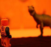 Stormtrooper VS. Dinosaur (Red) by Samantha Mercado