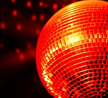 Red Disco Ball 2 by Lynx Clark