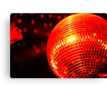 Red Disco Ball 2 Canvas Print