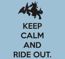 Keep Calm and Ride out - Black by KLDesigns