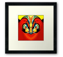 red confusion Framed Print